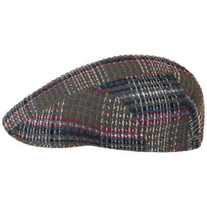 Stetson Seersucker Cotton Check Flatcap Baumwollcap Schirmmütze Schiebermütze Sommercap - Bild 1