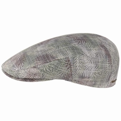 Stetson Kent Palm Leaf Flatcap Baumwollcap Schirmmütze Schiebermütze Sommercap
