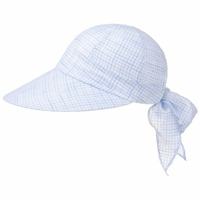 McBURN Checked Bandana Cap Damencap Strandcap Sonnencap Sonnenvisor Baumwollcap - Bild 1