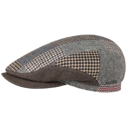 Stetson Tecopa Patchwork Flatcap Schirmmütze Flatcap Schiebermütze Baumwollcap Leinencap - Bild 1