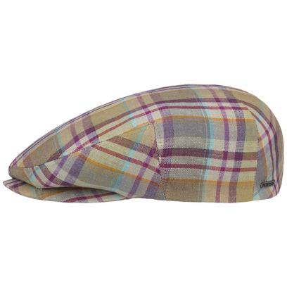 Stetson Kent Brookfield Check Flatcap Schirmmütze Schiebermütze Leinencap Sommercap - Bild 1