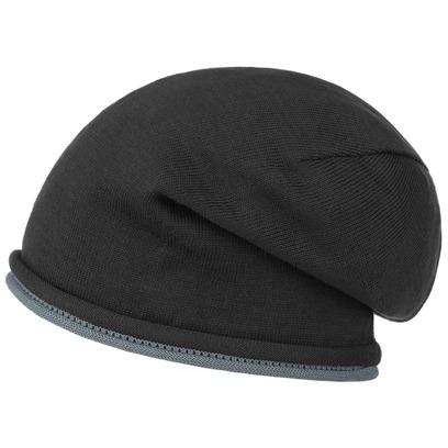 bedacht Oversize Beanie Double Rollrand Baumwollbeanie Sommermütze Mütze Damenmütze