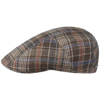 Stetson Grenville Check Flatcap Schirmmütze Schiebermütze Baumwollcap Leinencap Sommercap