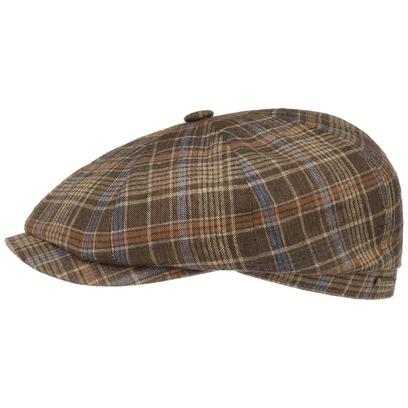 Stetson Hatteras Grenville Check Flatcap Schirmmütze Ballonmütze Baumwollcap Sommercap Leinencap - Bild 1