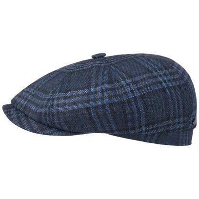 Stetson Hatteras Cerruti Check Flatcap Schirmmütze Wollcap Ballonmütze Seidencap - Bild 1