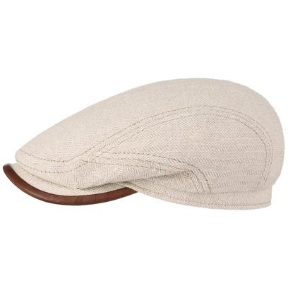 Stetson Paulsell Cotton Linen Flatcap Schirmmütze Schiebermütze Baumwollcap Leinencap Sommercap