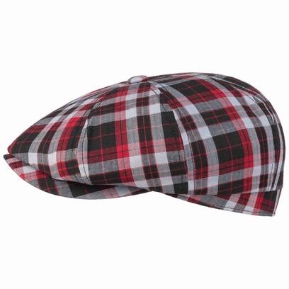 Stetson Hatteras Brentwood Check Flatcap Schirmmütze Ballonmütze Baumwollcap Sommercap - Bild 1