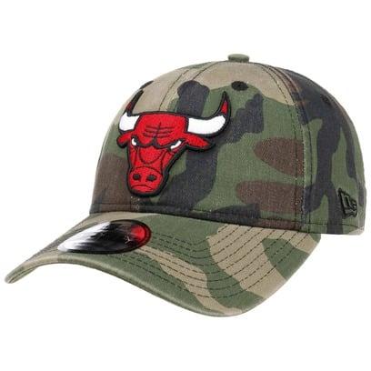 New Era 9Forty Wash Camo Bulls Cap Baseballcap Basecap Strapback NBA Chicago