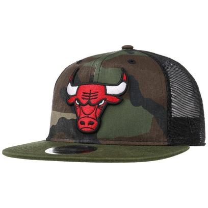 New Era 9Fifty Wash Camo Bulls Cap Baseballcap Basecap Snapback NBA Flat Brim Chicago Trucker Mesh