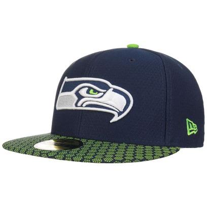 New Era 59Fifty ONF Seahawks Cap Flat Brim Basecap Baseballcap Kappe Käppi Seattle NFL