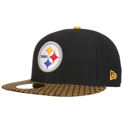 New Era 59Fifty ONF Steelers Cap Pittsburgh Basecap Baseballcap Kappe Käppi Flat Brim NFL