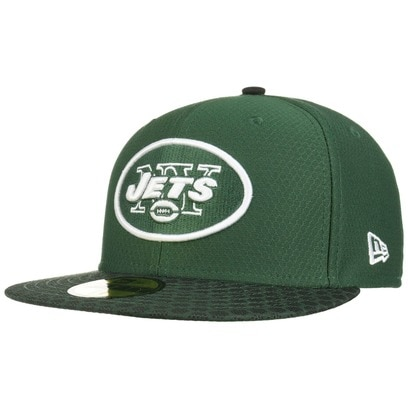 New Era 59Fifty ONF Jets Cap NFL Flat Brim Fitted Basecap Baseballcap New York Kappe Käppi