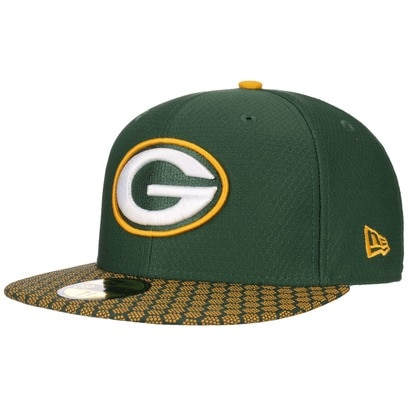 New Era 59Fifty ONF Packers Cap NFL Flat Brim Fitted Basecap Baseballcap Green Bay Kappe Käppi