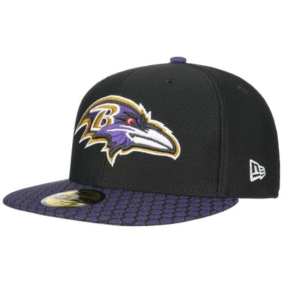 New Era 59Fifty ONF Ravens Cap NFL Flat Brim Fitted Basecap Baseballcap Kappe Käppi Baltimore