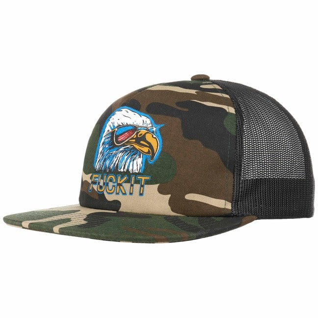 HUF Fuck It Camo Eagle Trucker Cap Basecap Base...