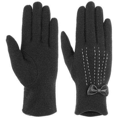 Lipodo Wollhandschuhe mit Schleife Handschuhe Fingerhandschuhe Damenhandschuhe - Bild 1