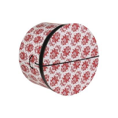 Lierys Hutbox Rote Ornamente 28 cm Hutschachtel Hutkoffer Aufbewahrung Hut Hüte - Bild 1