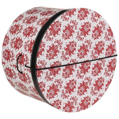 Lierys Hutbox Rote Ornamente 44 cm Hutschachtel Hutkoffer Aufbewahrung Hut Hüte