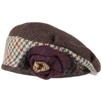 GREVI Patchwork Wollbaske Baskenmütze Damenbaske Baske Damenmütze Wollmütze - Bild 1