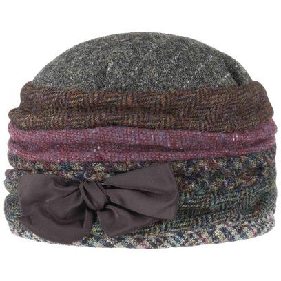GREVI Wool Patchwork Toque mit Futter Wollmütze Damentoque Damenmütze Wintermütze Mütze - Bild 1