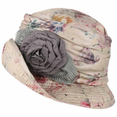 GREVI Regenhut mit Rosendruck Damenhut Hut Stoffhut Outdoorhut - Bild 1
