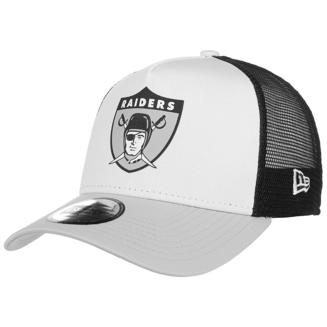 New Era NFL Throwback Raiders Trucker Cap Meshc...