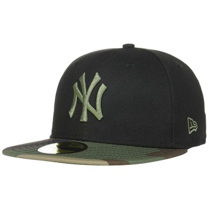 New Era 59Fifty Contrast Camo Yankees Cap Fitted MLB Basecap Baseballcap Kappe Flat Brim