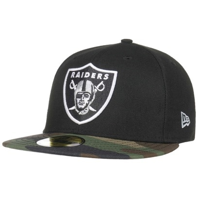 New Era 59Fifty Contrast Camo Raiders Cap Fitted NFL Basecap Baseballcap Kappe Flat Brim Oakland