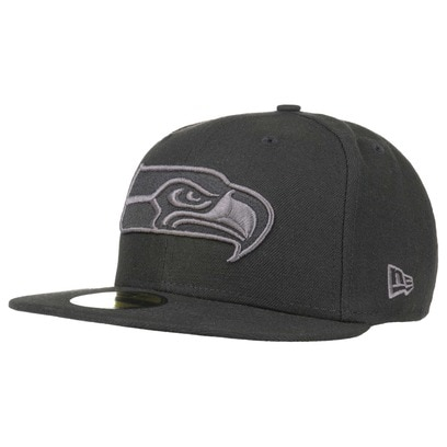 New Era 59Fifty BG Seahawks Cap Fitted Basecap Baseballcap Kappe Seattle Flat Brim NFL