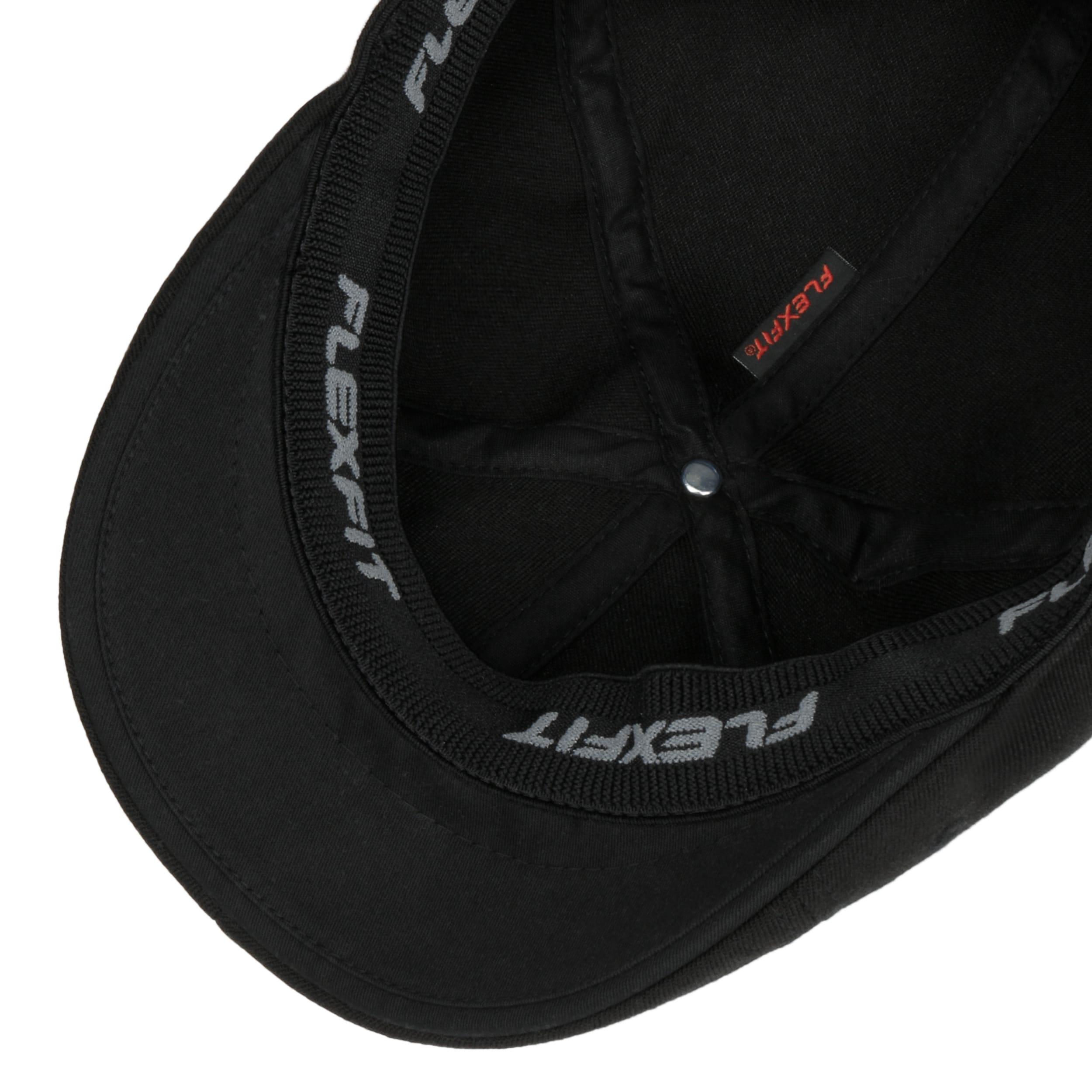 661c2d3f01c95 ... 504 Flexfit Flat Cap by Kangol - black 2 ...