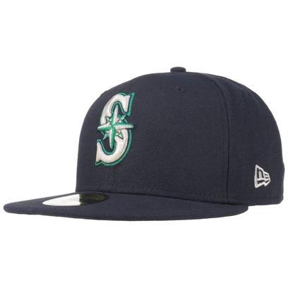 New Era 59Fifty AC Perf Mariners Cap Fitted Basecap Baseballcap MLB Flat Brim Seattle Kappe