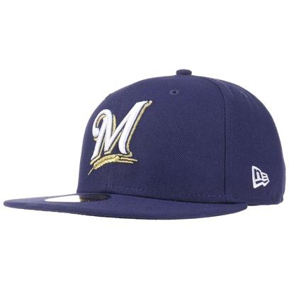 New Era 59Fifty AC Perf Brewers Cap Fitted Basecap Baseballcap MLB Flat Brim Milwaukee Kappe