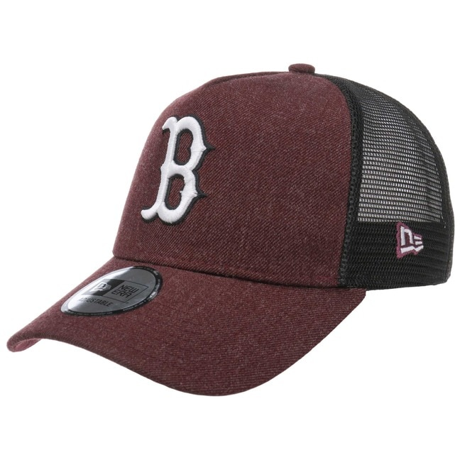 New Era Heather Red Sox Trucker Cap Basecap Bas...