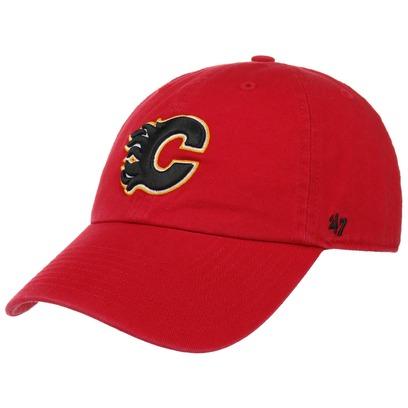 47 Brand Clean Up Flames Strapback Cap Basecap NHL Baseballcap Kappe Curved Brim Calgary - Bild 1