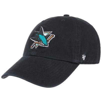 47 Brand Clean Up Sharks Strapback Cap Basecap Baseballcap Kappe San Jose NHL Curved Brim - Bild 1