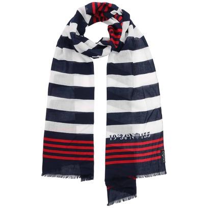 Fraas Marine Stripes Baumwolltuch Sommerschal Schal Damenschal Damentuch Marineschal - Bild 1