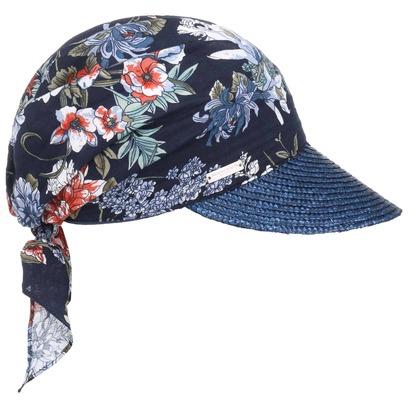 Seeberger Flower High UV Bandana Cap Strohcap Sonnenvisor Damencap Visor Strandcap - Bild 1