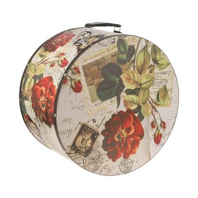 Lierys Hutkoffer Rose 31 cm Hutbox Hutschachtel Aufbewahrung Hutzubehör - Bild 1