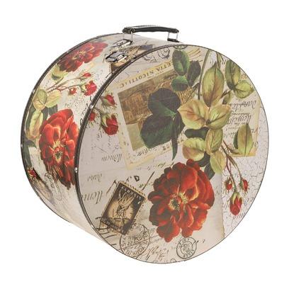 Lierys Hutkoffer Rose 35 cm Hutbox Hutschachtel Aufbewahrung Hutzubehör