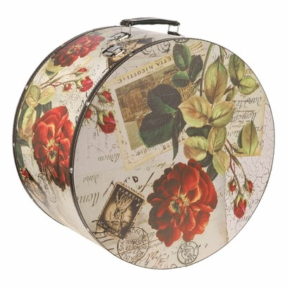 Lierys Hutkoffer Rose 38 cm Hutbox Hutschachtel Aufbewahrung Hutzubehör - Bild 1