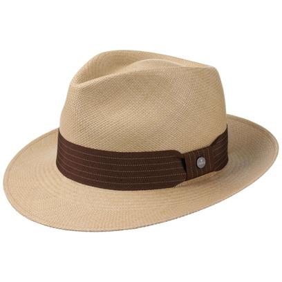 Lierys Brown Rockfall Panamahut Strohhut Panamastrohhut Sommerhut Sonnenhut Standhut Bogarthut Hut - Bild 1