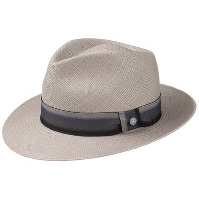 Lierys Grey Paradise Bogart Panamahut Strohhut Panamastrohhut Sommerhut Sonnenhut Standhut Bogarthut - Bild 1