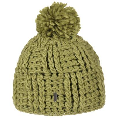 McBURN Grobstrick Bommelmütze Strickmütze Mütze Wintermüte Damenmütze - Bild 1
