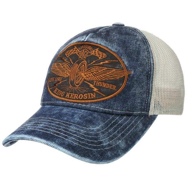 King Kerosin Ride Like Thunder Trucker Cap Base...