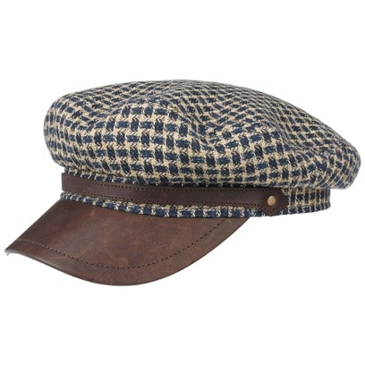 Stetson Houndstooth Riders Cap Baker-Boy-Mütze Newsboy-Mütze Schirmmütze Leinencap Kapitänsmütze - Bild 1
