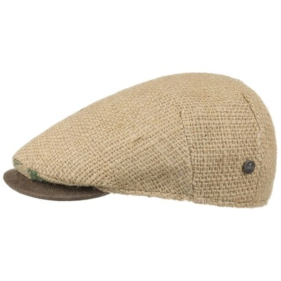 Lierys Capri Flatcap mit Lederschirm Schirmmütze Jutecap Sommercap Schiebermütze Ledervisor - Bild 1