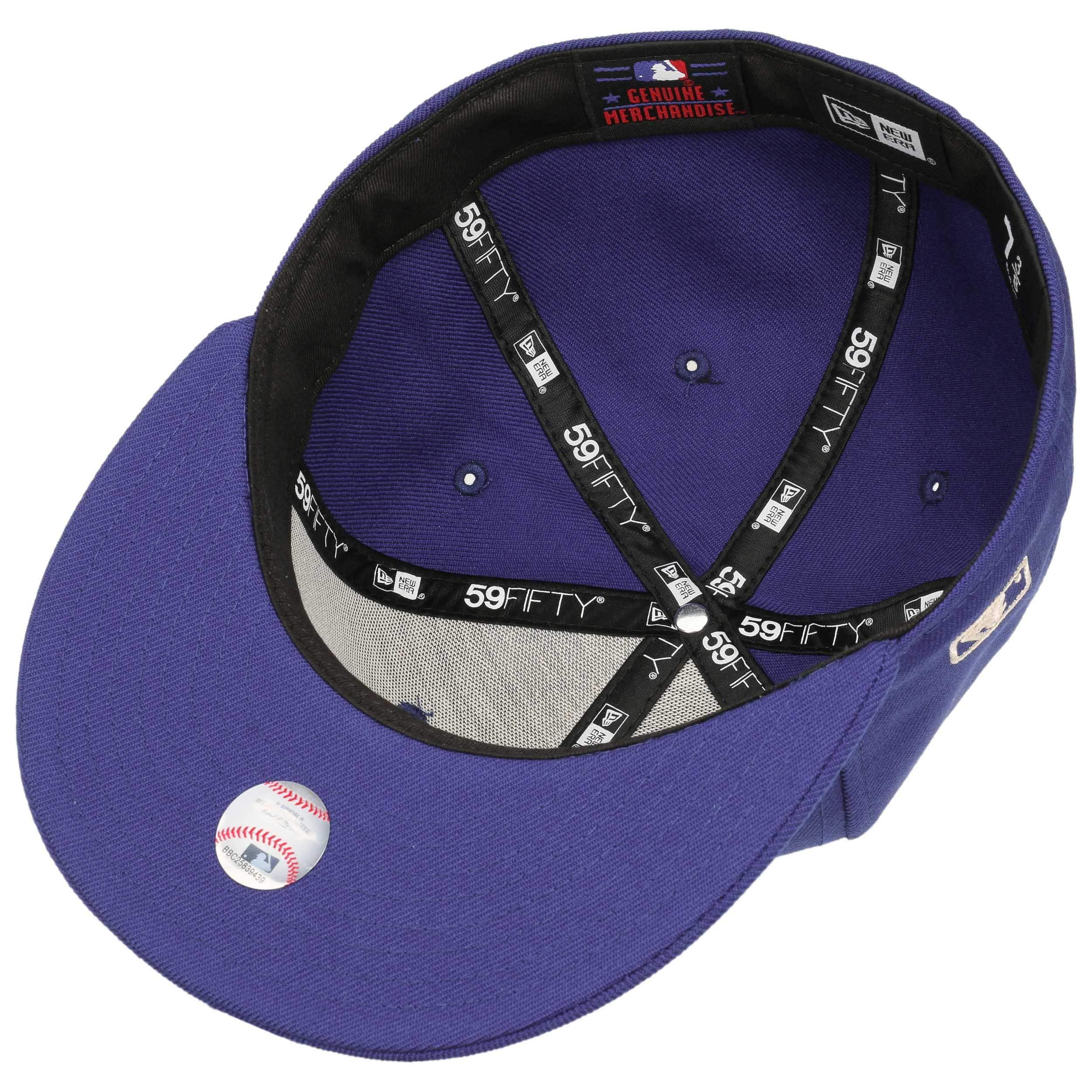 45eb2e834b767 ... 59Fifty Chain Stitch LA Cap by New Era - blue 2 ...