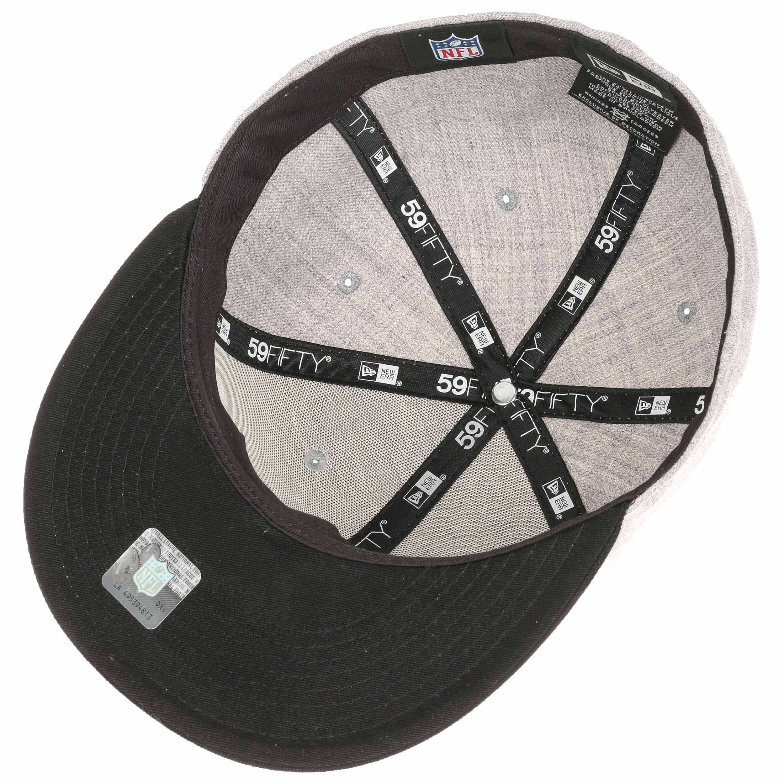 ... 59Fifty Heather Raiders Cap by New Era - grey 2 ... 021293983