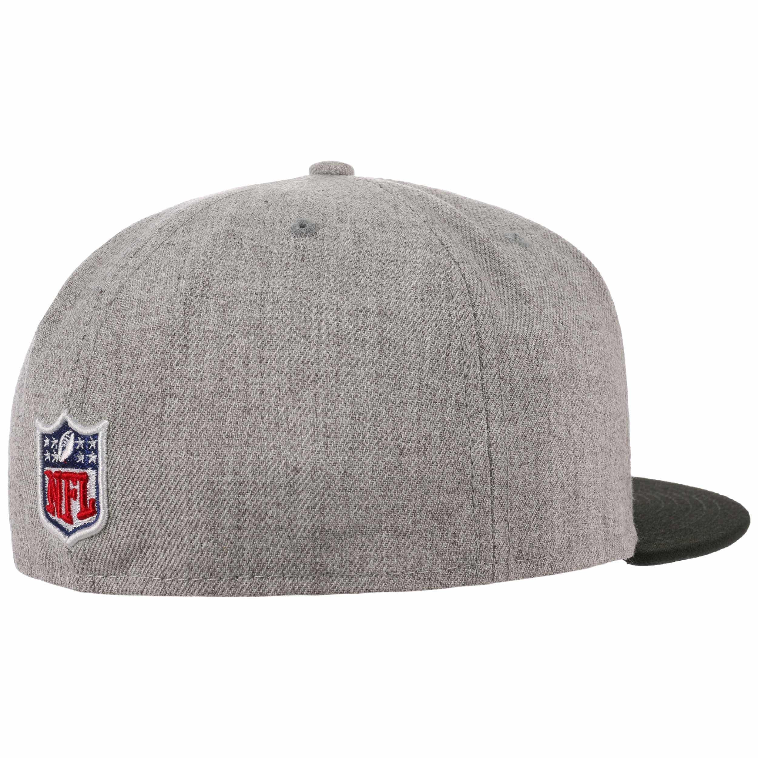 ... 59Fifty Heather Raiders Cap by New Era - grey 3 ... d08350200
