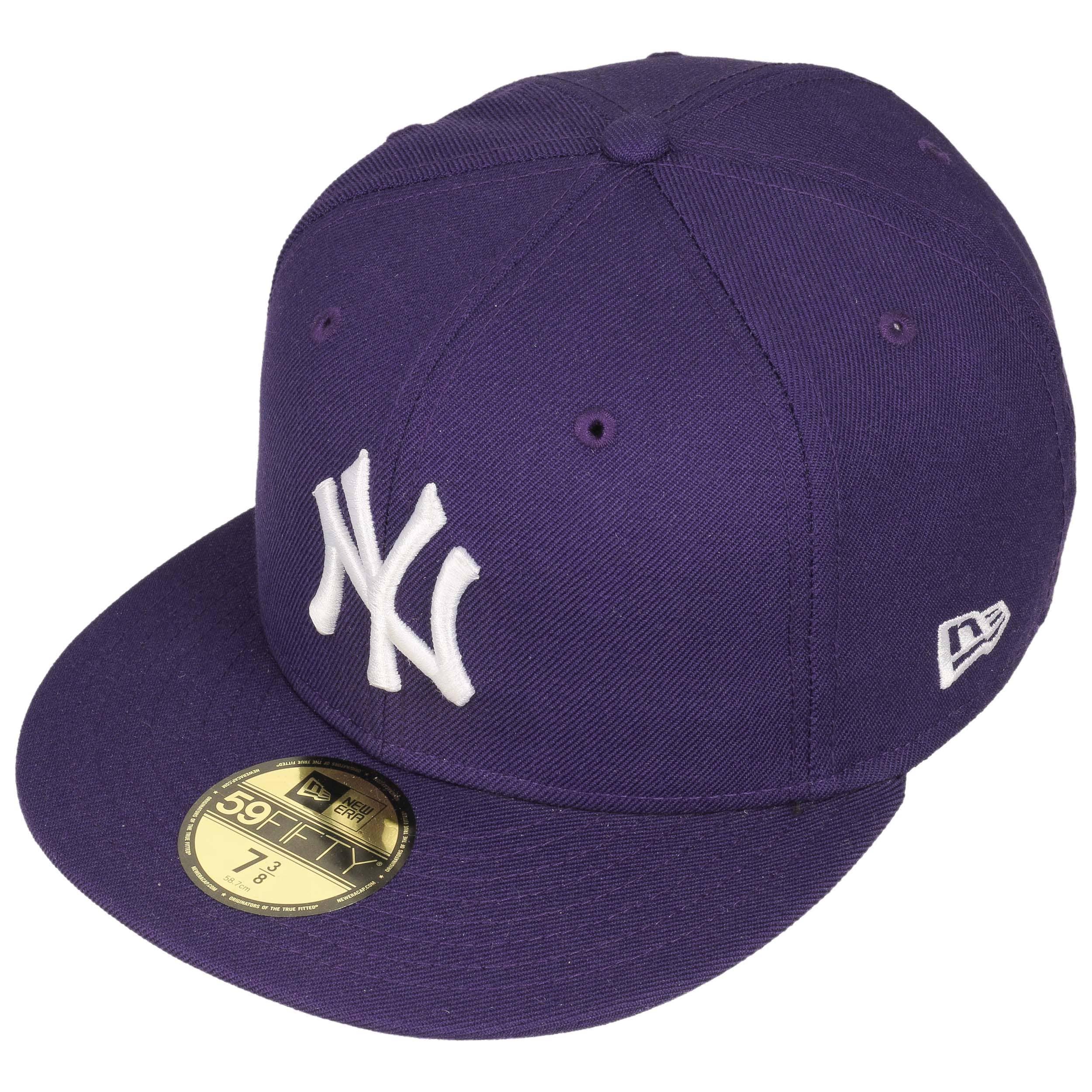 ... 59Fifty MLB Basic NY Cap by New Era - purple 1 ... e764649ef87